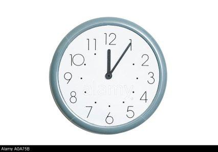 AGA75B clock at 5 past 12. Image shot 2006. Exact date unknown.