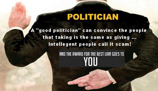 lying. politician