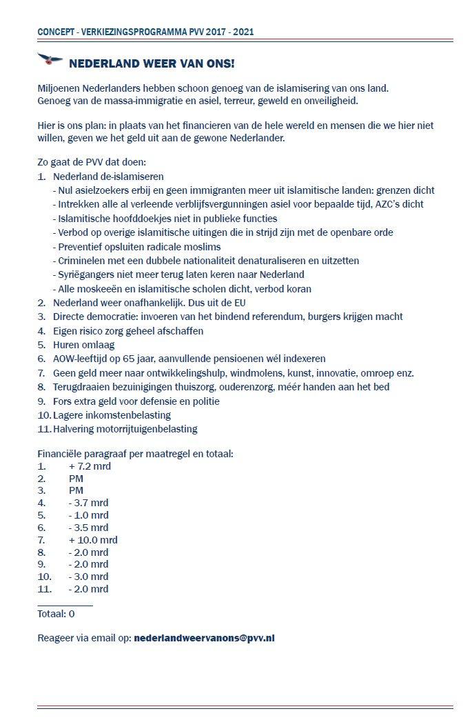 PVV-programma
