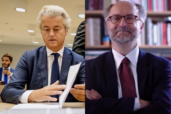 2016-09-23 09:29:21 SCHIPHOL - Advocaat Geert-Jan Knoops en Geert Wilders in het Justitieel Complex Schiphol voor het vervolg van de strafzaak tegen Geert Wilders. De PVV-voorman wordt vervolgd voor het aanzetten tot haat, discriminatie, belediging en uitlokking vanwege de minder minder-uitspraak die hij deed over Marokkanen tijdens de gemeenteraadsverkiezingen in 2014. ANP REMKO DE WAAL