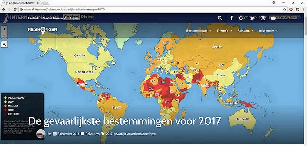 gevaarlijke landen